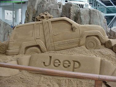 Jeep Sand Sculptures