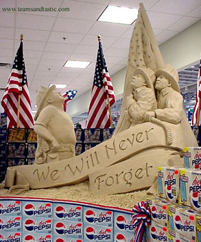 """We Will Never Forget"" Sand Sculpture"