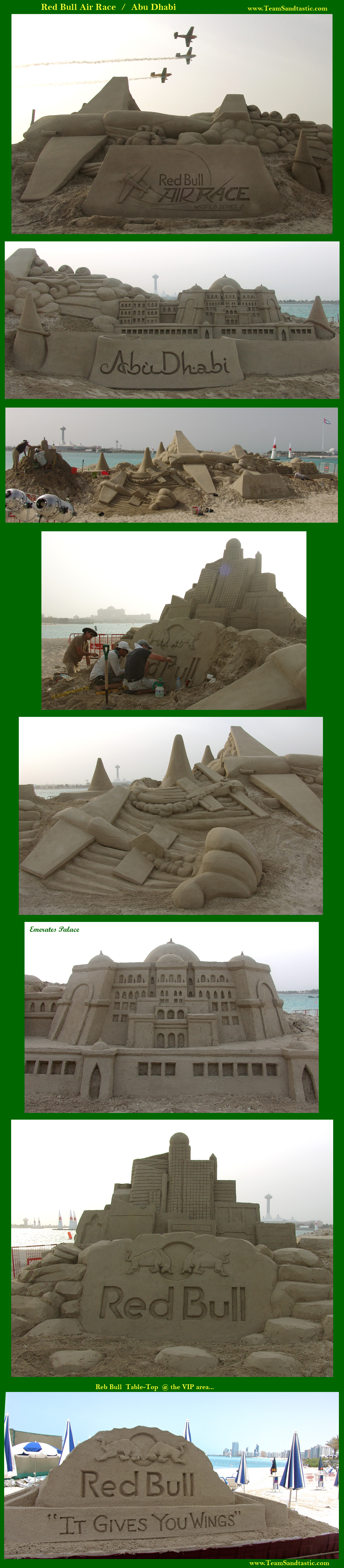 Sand Sculpture in Abu Dhabi